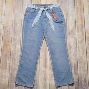 St. John's Bay | NWT Light Wash Straight Jeans 14